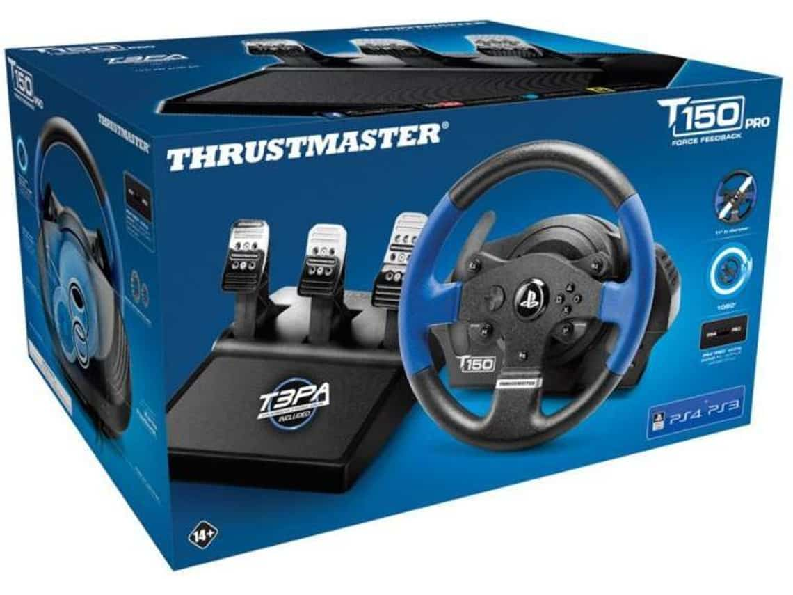 volante thrustmaster t150 rs pro ps3 ps4 pc sim racing tech. Black Bedroom Furniture Sets. Home Design Ideas